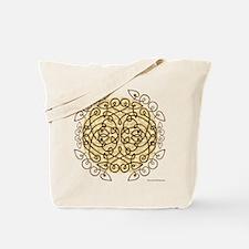 Brown Celtic Art Curls Tote Bag