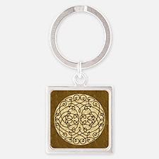 Brown Celtic Art Curls Keychains