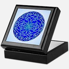 Deep Blue Celtic Art Curls Keepsake Box