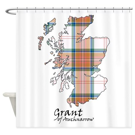 Map Grant Of Auchnarrow Shower Curtain By Thingsscottish