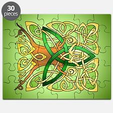 Celtic Art Trinity Tree Green Puzzle