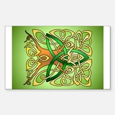 Celtic Art Trinity Tree Green Decal