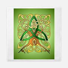Celtic Art Trinity Tree Green Queen Duvet