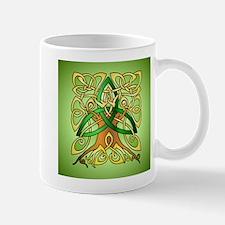 Celtic Art Trinity Tree Green Mugs