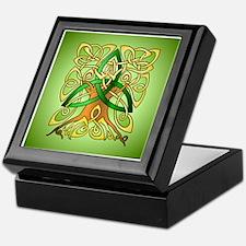 Celtic Art Trinity Tree Green Keepsake Box