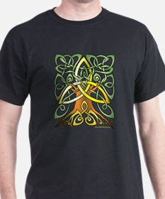 Celtic Art Trinity Tree Brown - Unfilled T-Shirt