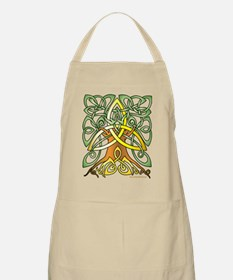 Celtic Art Trinity Tree Brown - Unfilled Apron