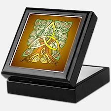 Celtic Art Trinity Tree Brown Keepsake Box