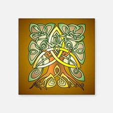 Celtic Art Trinity Tree Brown Sticker