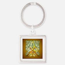 Celtic Art Trinity Tree Brown Keychains