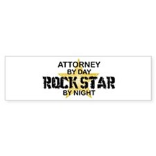 Attorney Rock Star Bumper Bumper Sticker