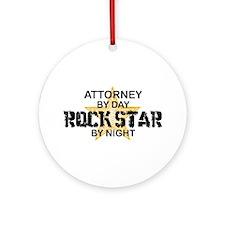 Attorney Rock Star Ornament (Round)