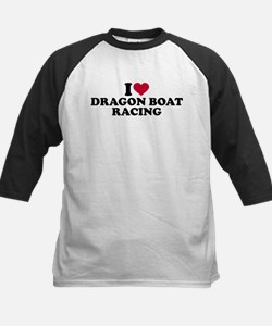 I love Dragon boat racing Kids Baseball Jersey