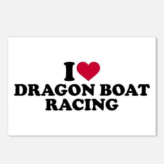 I love Dragon boat racing Postcards (Package of 8)