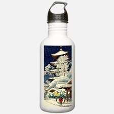 Cute Winter scenery Water Bottle