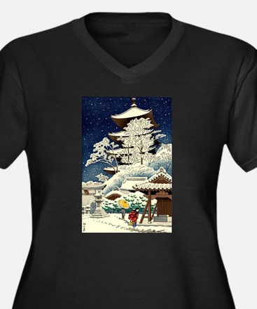 Cool Japanese Oriental Snow Wint Plus Size T-Shirt