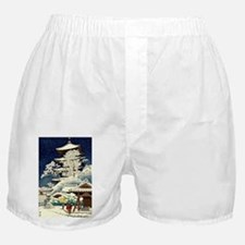 Cool Japanese Oriental Snow Winter Boxer Shorts