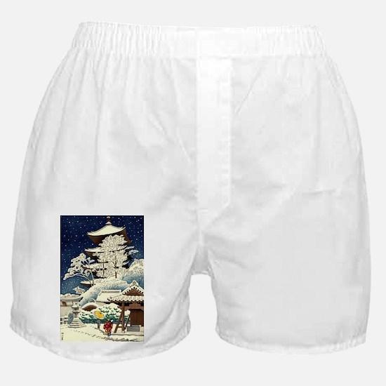 Cool Japanese Oriental Snow Winter Boxer Shorts
