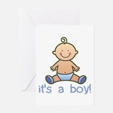 New Baby Boy Cartoon Greeting Cards