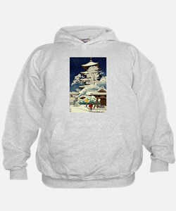 Cool Japanese Oriental Snow Winter Hoody