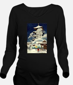 Cool Japanese Orient Long Sleeve Maternity T-Shirt
