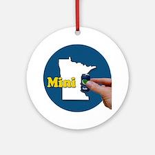 Cute Minnesota humor Round Ornament