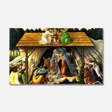 Mystical Nativity Botticelli Car Magnet 20 x 12