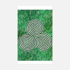 Green Celtic Spiral Triskellion Labyrinth Decal