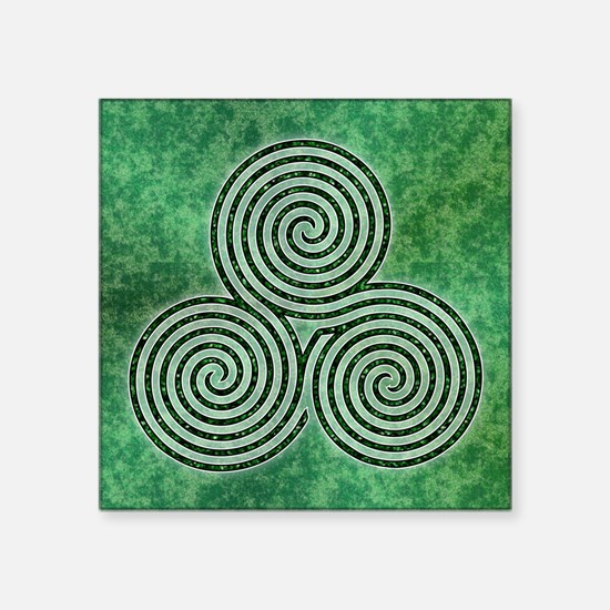 Green Celtic Spiral Triskellion Labyrinth Sticker