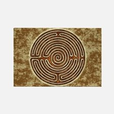 Brown Bayeux Cathedral Labyrinth Magnets