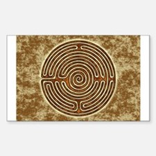 Brown Bayeux Cathedral Labyrinth Decal