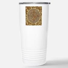 Brown Bayeux Cathedral Labyrinth Travel Mug