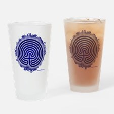 Blue Meis Galicia Labyrinth Drinking Glass