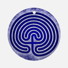 Blue Meis Galicia Labyrinth Round Ornament
