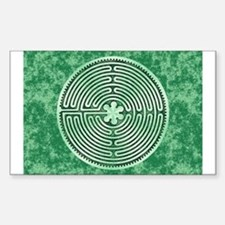 Green Chartres Cathedral Labyrinth Decal