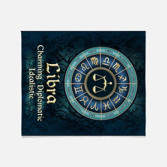 Libra Astrology Zodiac Sign Throw Blanket