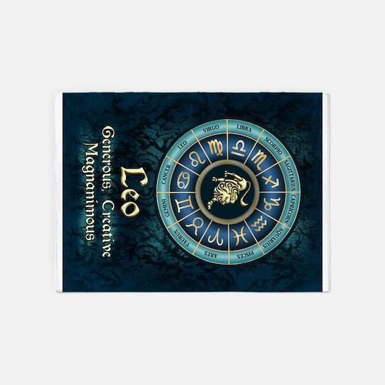 Leo Astrology Zodiac Sign 5'x7'Area Rug