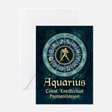 Aquarius Astrology Zodiac Sign Greeting Cards