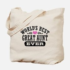 World's Best Great Aunt Ever Tote Bag