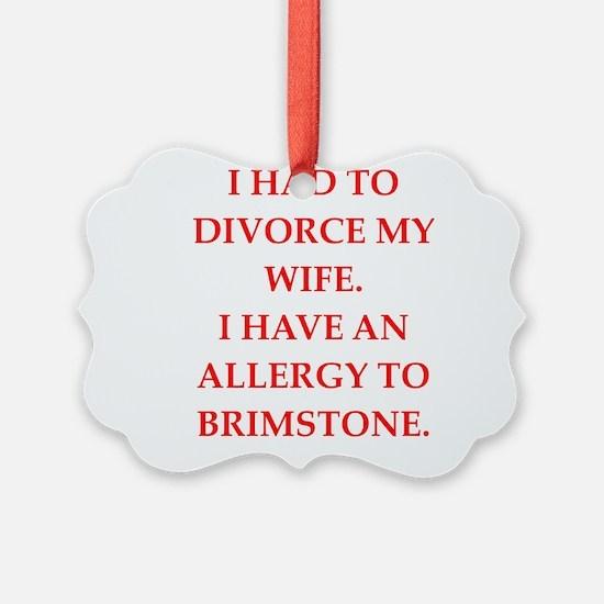 divorce Ornament