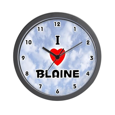 I Love Blaine (Black) Valentine Wall Clock
