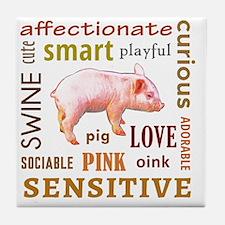 Cute Bacon baby Tile Coaster