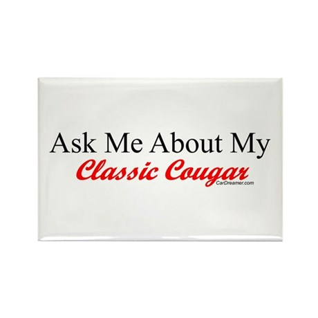"""""""Ask Me About My Cougar"""" Rectangle Magnet (10 pack"""