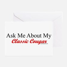 """""""Ask Me About My Cougar"""" Greeting Cards (Pk of 10)"""