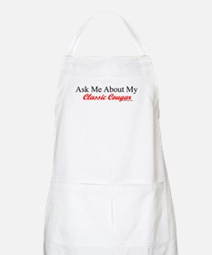"""""""Ask Me About My Cougar"""" BBQ Apron"""