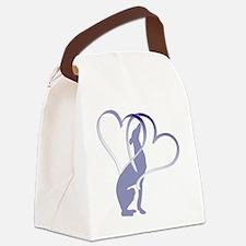 Greyhound Hearts Canvas Lunch Bag