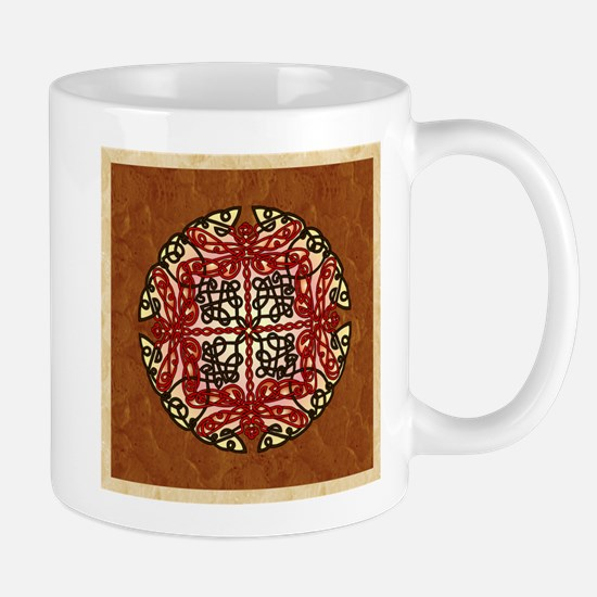 Celtic Dragonflies Red Mugs