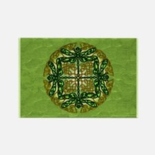 Green Celtic Dragonflies Magnets
