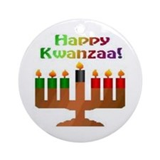Happy Kwanzaa Ornament (Round)