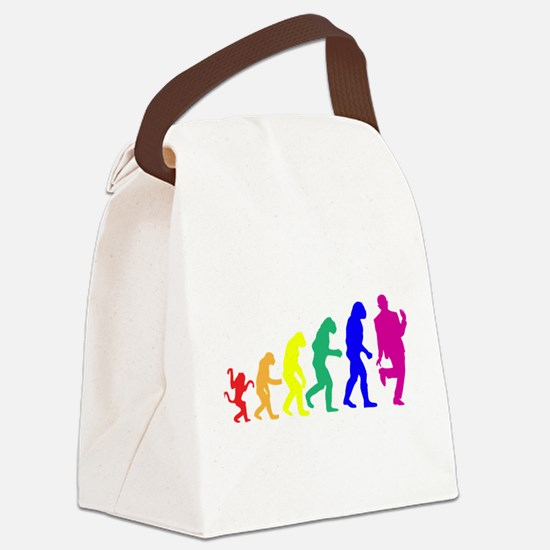 Gay Evolution Canvas Lunch Bag